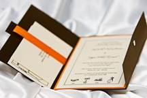 A Noteworthy Designs custom invitation