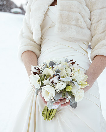 winter wedding bouquet found via martha stewart weddings