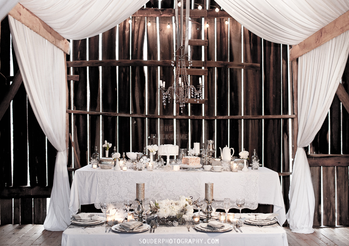 elegant rustic wedding decor via Souder Photography