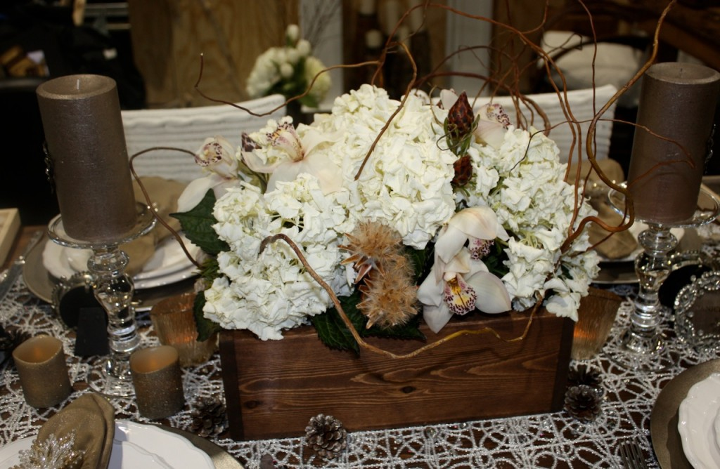 rustic centerpiece from Blue Hydrangea