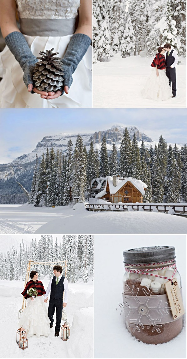 Canada winter shoot by Naturally Chic on Style Me Pretty | Photo by Orange Girl Photographs