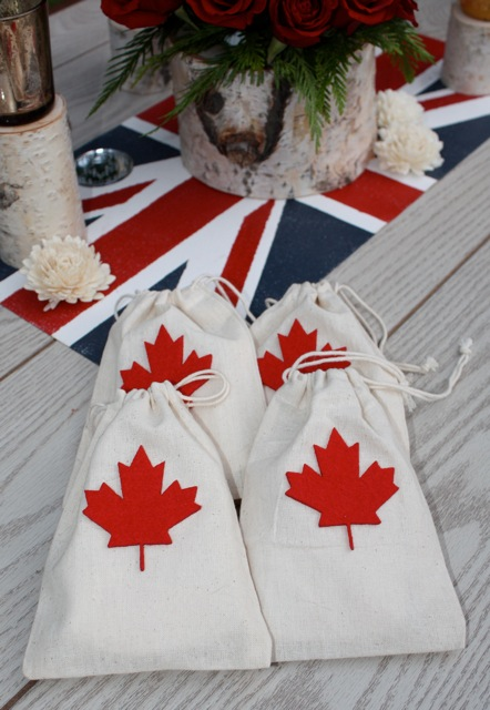 Wedding Favor Tags Canada : canada favor bags