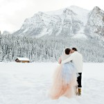Whimsical Lake Louise Winter Wedding