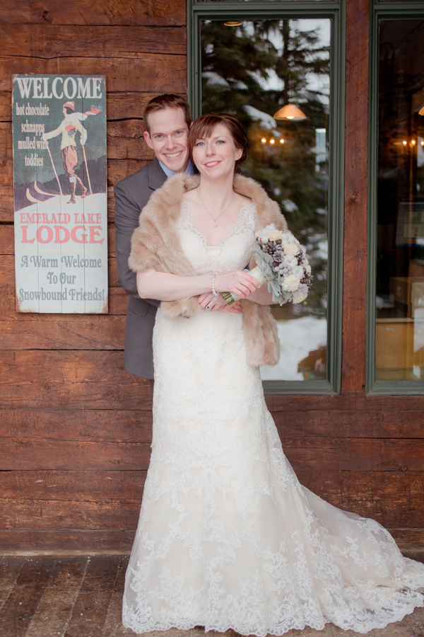 Winter wedding fat Emerald Lake Lodge from Naturally Chic | www.naturallychic.ca | Photo by Julie Williams Photography