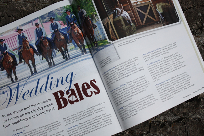 Banff Wedding planner Naturally Chic in Horse Canada Magazine