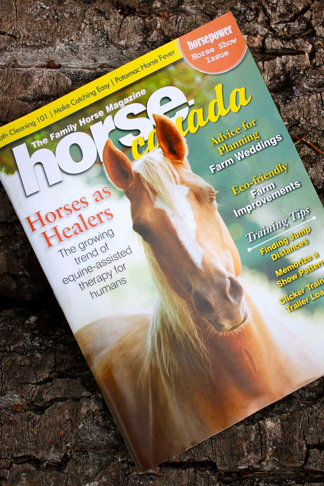 Banff and Canmore wedding planner Naturally Chic featured in Horse Canada Magazine