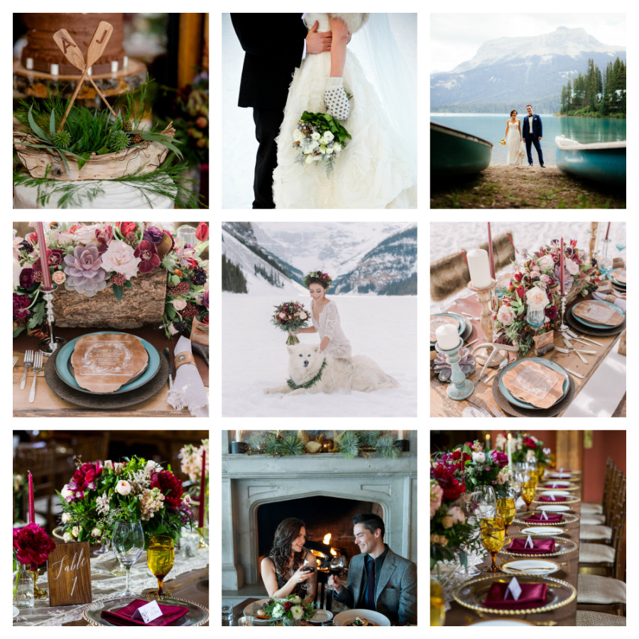 Naturally Chic Weddings Top Instagram Collage 2015