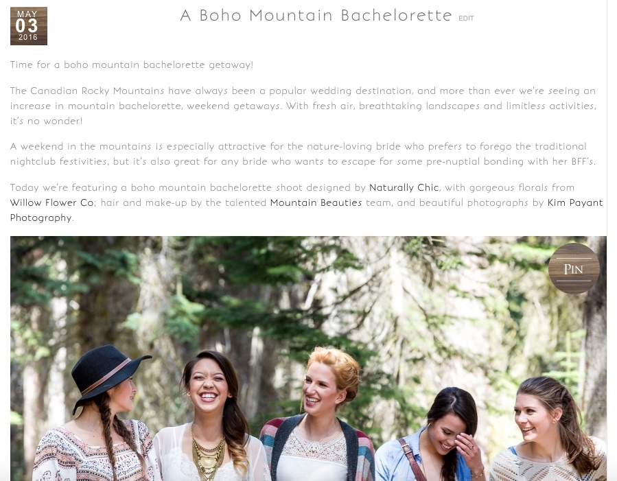 Emerald Lake Lodge boho mountain bachelorette by Naturally Chic | Photo Kim Payant Photography