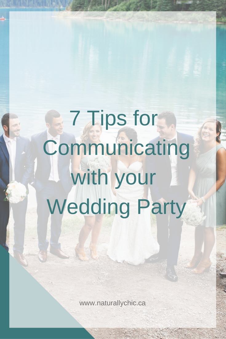 Tips for communicating with your wedding party from Banff wedding planner Naturally Chic