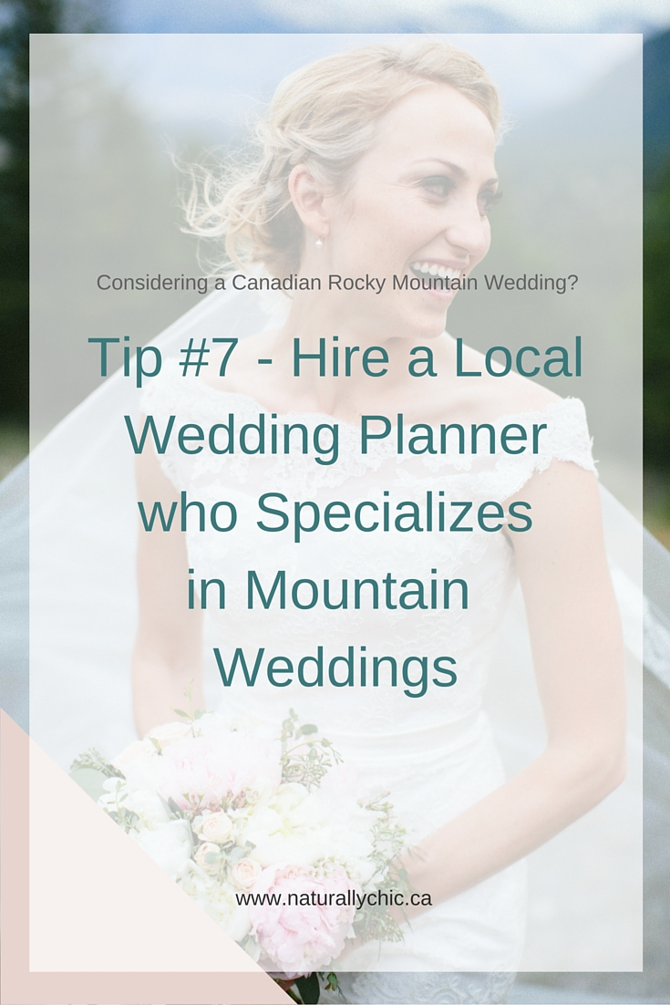Banff wedding planner, Naturally Chic shares tips for mountain weddings.