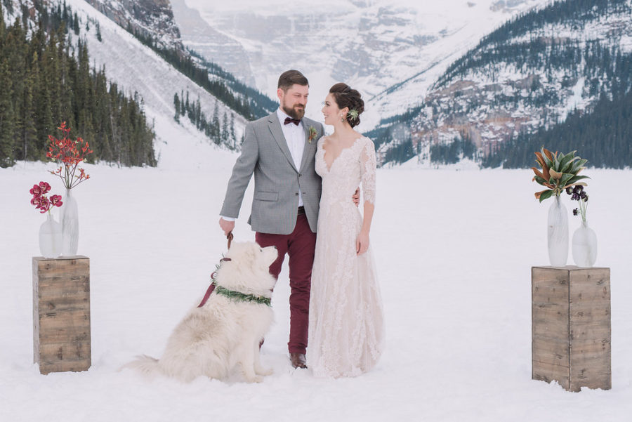 Lake Louise wedding from Naturally Chic | Photo by Darren Roberts Photography