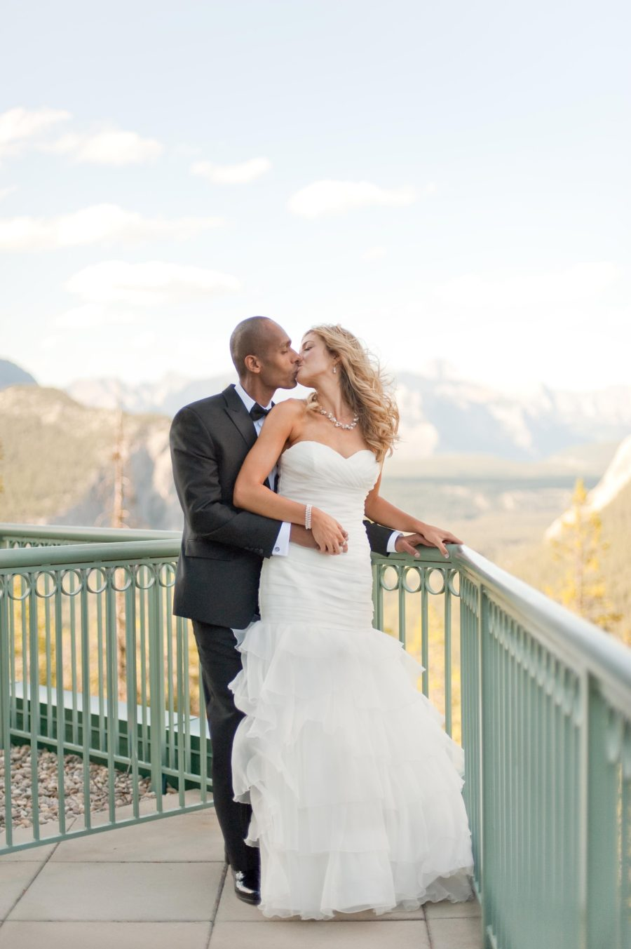 View from the Rimrock Resort in Banff | Naturally Chic Weddings | Photo by Jesse Hisco Photography