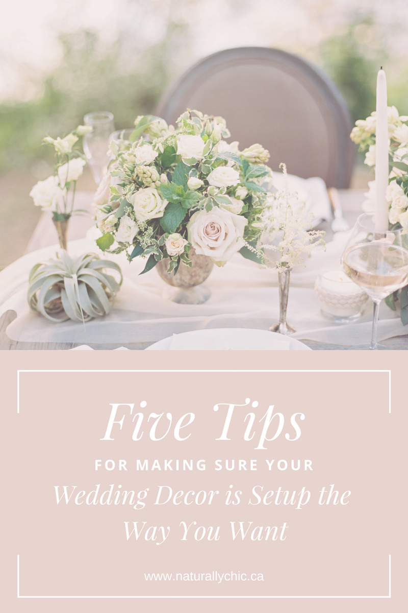5 Tips for Your Wedding Decor Setup from Banff wedding planner Naturally Chic