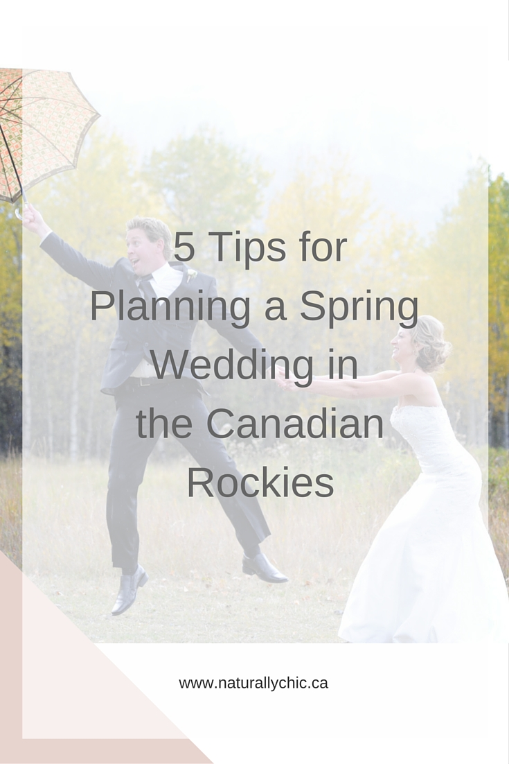Banff and Canmore Wedding Planner Naturally Chic's top tips for Planning a Spring Wedding in the Mountains | www.naturallychic.ca